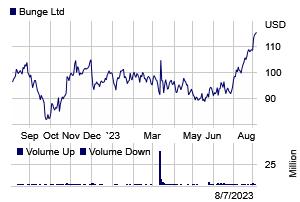 Stock chart for: BG